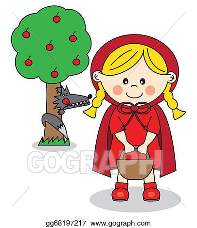 Vector Stock Little Red Riding Hood Clipart Illustration