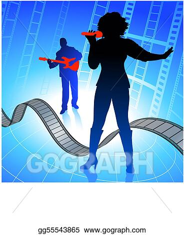 Vector stock live music band on internet film background vector stock live music band on internet film background clipart illustration gg55543865 voltagebd Image collections