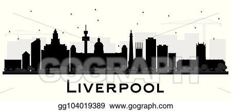 Vector Art Liverpool City Skyline Silhouette With Black Buildings Isolated On White Clipart Drawing Gg104019389 Gograph