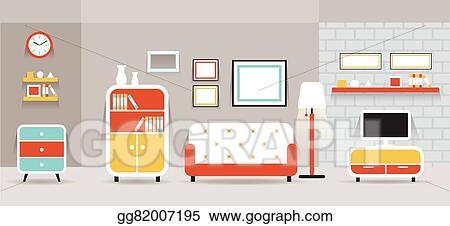 Living Room Furniture Display Panorama