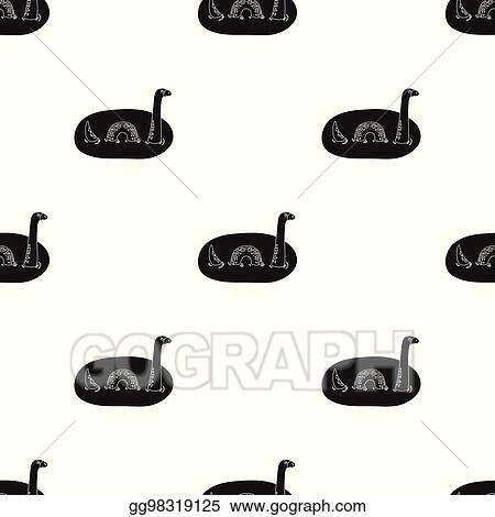 Eps Illustration Loch Ness Monster Icon In Black Style Isolated On