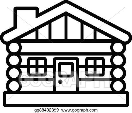 vector art log cabin clipart drawing gg88402359 gograph rh gograph com log cabin clipart cabin clip art images