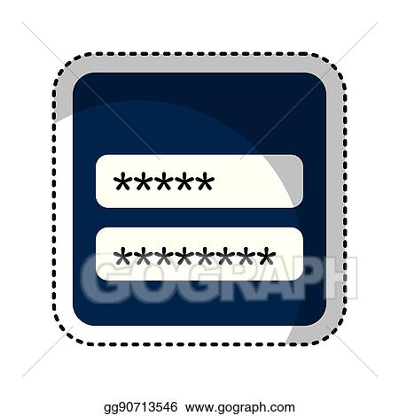 Vector Art - Login and password icon  EPS clipart gg90713546
