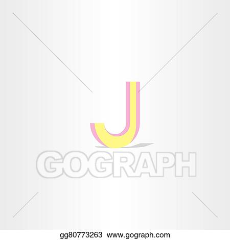 Vector Art Logo Letter J Yellow Symbol Design Element Eps Clipart