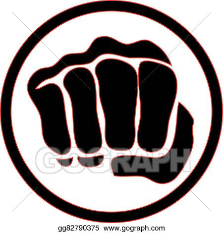 vector art logo martial arts power fist eps clipart gg82790375 rh gograph com mma fighting clipart mma clip art free