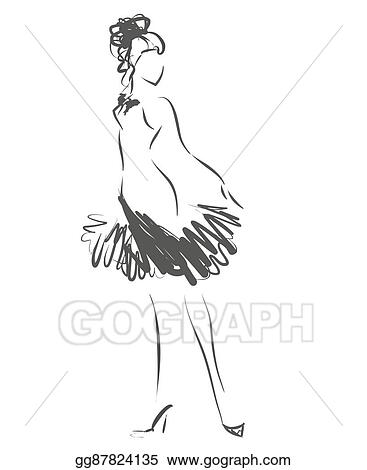 a3b34dd5ad58 Vector Clipart - Logotype with woman s silhouette. Vector ...