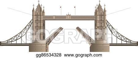Eps Vector London Bridge Stock Clipart Illustration Gg86534328