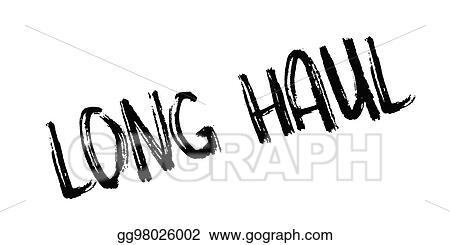 Eps Vector Long Haul Rubber Stamp Stock Clipart Illustration