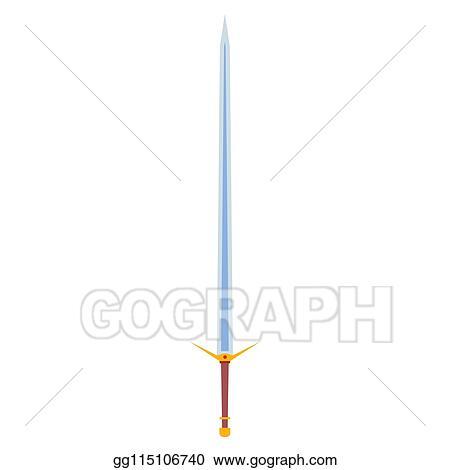 EPS Illustration - Longsword vector sharp cartoom magic king