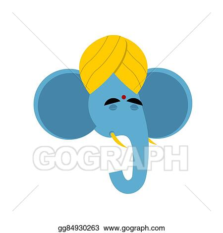 Vector Art Lord Ganesha Elephant Yoga Indian Elephant God