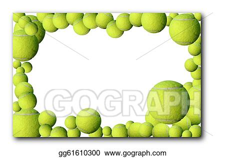 Stock Illustration - lot of tennis balls frame. Clipart ...