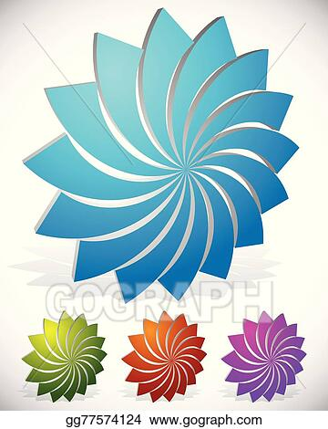 Vector art lotus flower shape in 3d 4 colors included vector lotus flower shape in 3d 4 colors included vector graphics mightylinksfo