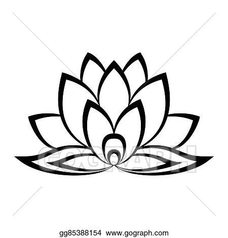 Vector Art Lotus Flower Sign Clipart Drawing Gg85388154 Gograph