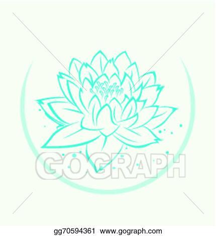 Eps vector lotus flower symbol stock clipart illustration lotus flower symbol mightylinksfo