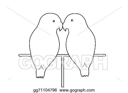 Drawing Love Birds Clipart Drawing Gg71104796 Gograph