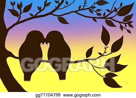 Drawing Love Birds Clipart Drawing Gg71104799 Gograph