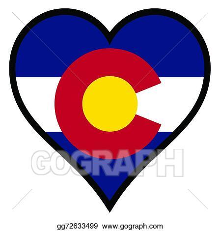 vector art love colorado clipart drawing gg72633499 gograph rh gograph com colorado state flag vector colorado state flag vector art