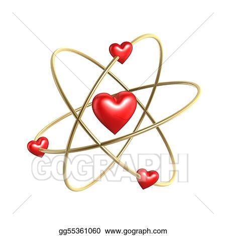 Love Heart Atom Structure