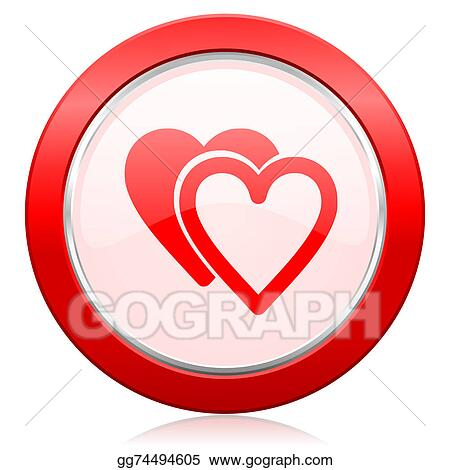 Drawing Love Icon Sign Hearts Symbol Clipart Drawing Gg74494605