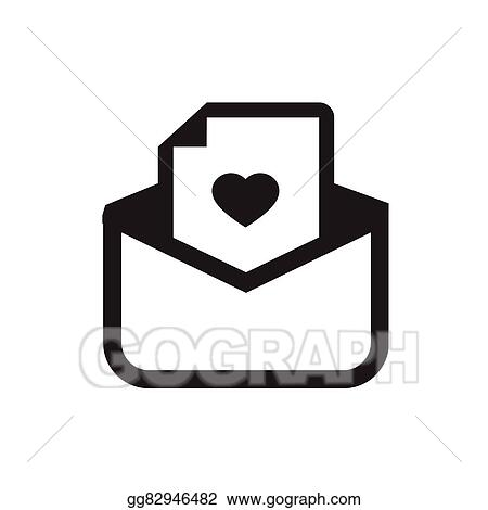Vector Art Love Letter Icon Clipart Drawing Gg82946482 Gograph