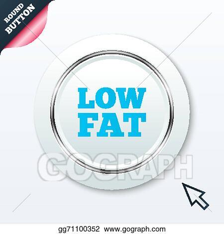 Vector Art - Low fat sign icon  salt, sugar food symbol