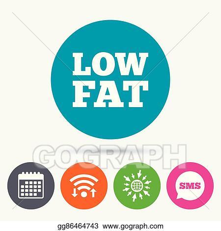Vector Art Low Fat Sign Icon Salt Sugar Food Symbol Clipart
