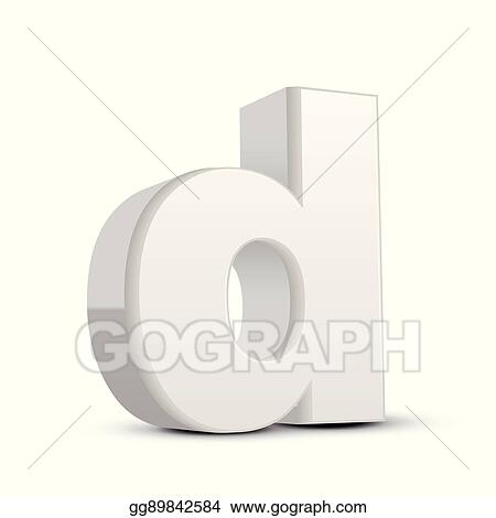 Vector Art Lowercase Plaster White Letter D Clipart Drawing