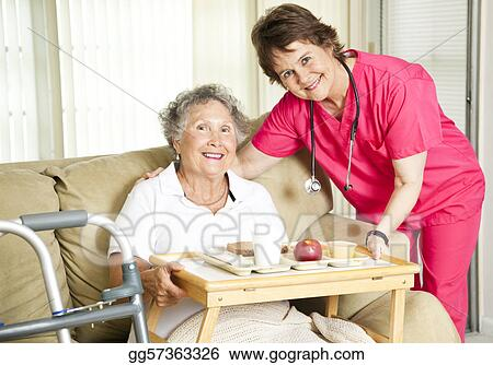 Stock Image Lunch At The Nursing Home Stock Photo Gg57363326 Gograph