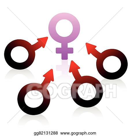 Vector Art Lust Desire Male Female Symbol Clipart Drawing