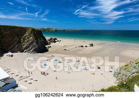 Stock Photography Lusty Glaze Beach Newquay Cornwall England Stock Image Gg106242624 Gograph