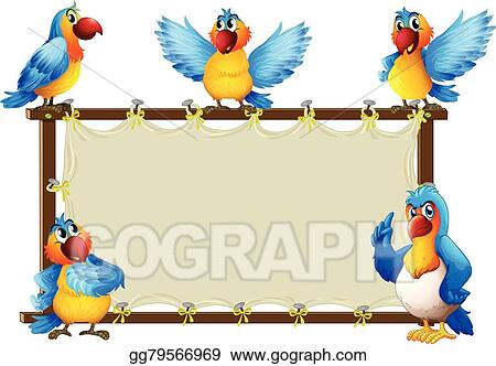 Macaw Standing On Wooden Frame