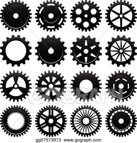 vector illustration machine gear wheel cogwheel stock clip art