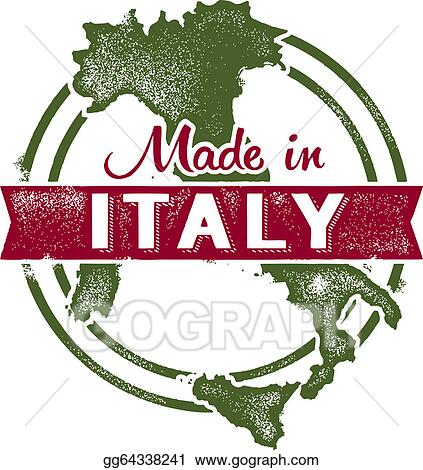 vector illustration made in italy stamp stock clip art gg64338241 rh gograph com clipart italy flag clipart italy flag