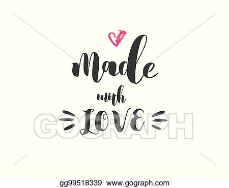 Vector Stock Made With Love Crafters And Artists Modern