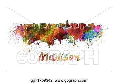 Madison skyline clip art 1 clip art vector site drawing madison skyline in watercolor clipart drawing gg71759342 rh gograph com minneapolis skyline 2013 skyline painting publicscrutiny Choice Image