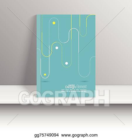 Vector Art Magazine Cover With Pattern Hipster Eps