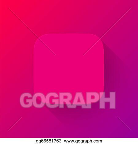Vector Art - Magenta technology app icon blank template  EPS clipart