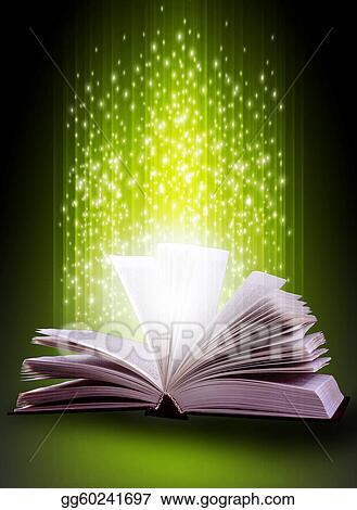 Clipart - Magic book   Stock Illustration gg60241697 - GoGraph