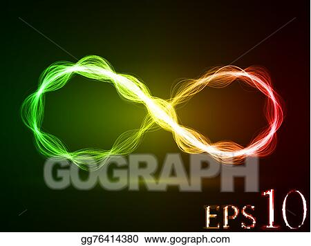 Vector Art - Magic energy loop effect  Clipart Drawing