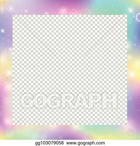 Vector Clipart - Magic frame with rainbow mesh and space for text ...
