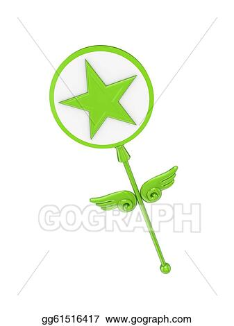 Clip Art Magic Wand With A Star Symbol Stock Illustration