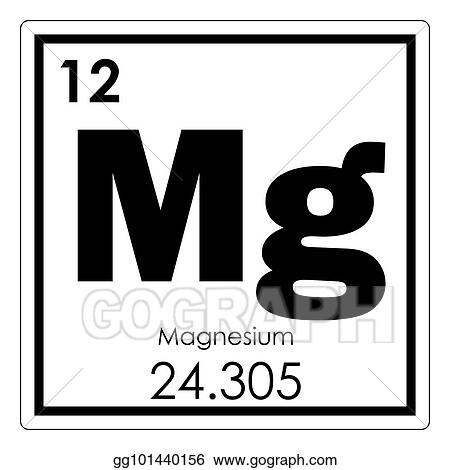 Drawing Magnesium Chemical Element Clipart Drawing Gg101440156