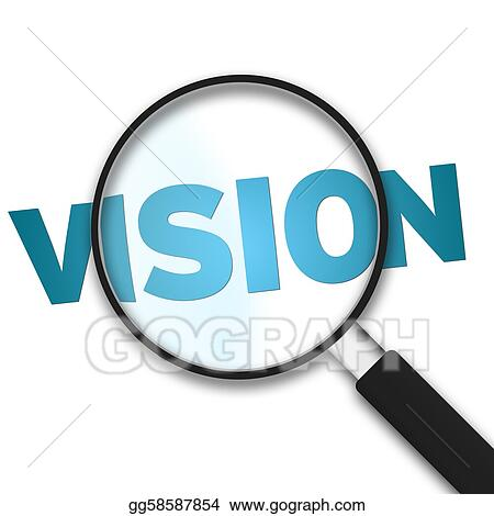 stock illustration magnifying glass vision clipart drawing rh gograph com vision clip art images clipart vision