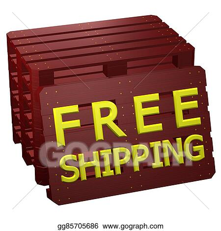 Clipart Mahogany Pallets With Words Free Shipping