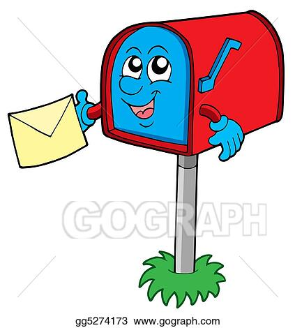 Drawing Mail Box With Letter Clipart Drawing Gg5274173 Gograph