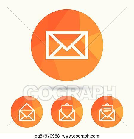 Vector Illustration Mail Envelope Icons Message Document Symbols
