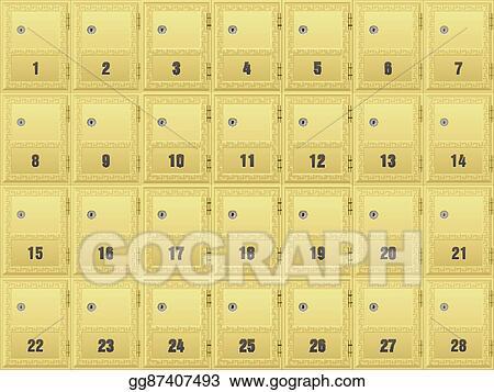 Clip Art Vector - Mailboxes. Stock EPS gg87407493 - GoGraph