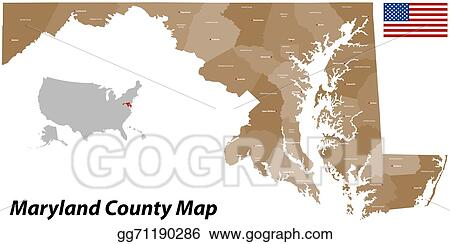 Vector Art - Maine county map. Clipart Drawing gg71190286 - GoGraph