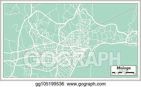 Eps Vector Malaga Spain City Map In Retro Style Outline Map