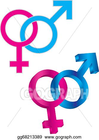 Vector Stock Male And Female Gender Symbol Intertwined Stock Clip